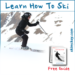 A skier learning how to ski