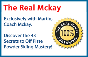 Learn to ski powder with Martin Mckay Real Guarantee